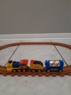 Train set with track