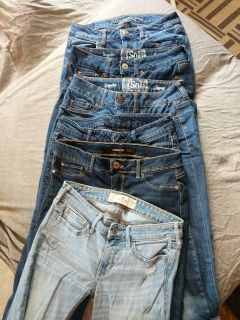 Variety of jeans.