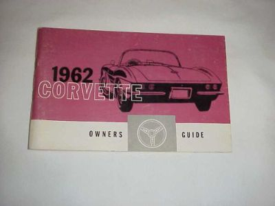 Purchase 62 1962 CORVETTE OWNERS GUIDE MANUAL FIRST EDITION W/ FULL NEWS CARD motorcycle in Leo, Indiana, United States, for US $79.00