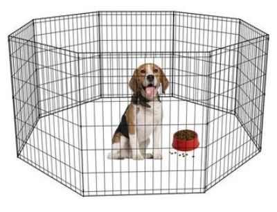 8 panel foldable pet playpen
