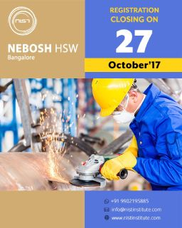 NEBOSH HSW course training in Bangalore