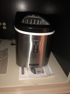 Brand new stainless steel ice maker