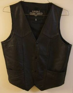 "New ""Leather Gallery"" Top-Grain Leather Vest - SIZE 40"