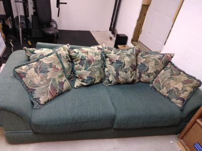 Dark green large couch