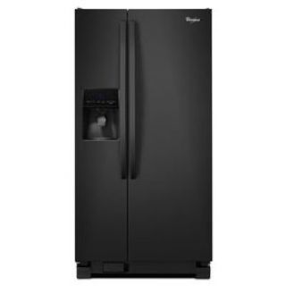 Whirlpool Black Side-by-Side Refrigerator WRS342FIAB