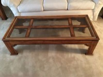 Wooden and Glass Coffee Sofa Table