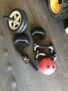 Miscellaneous gym/weight equipment