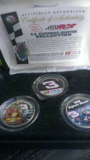 dale earnhardt and jr silver coins (bossier)