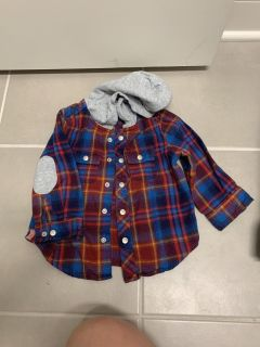 Cat & jack hooded flannel button down