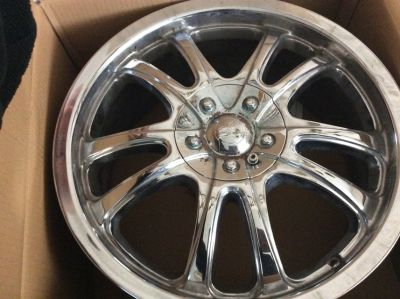 A set of universal chrome rims