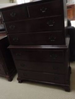Vintage Solid Wood 6 Drawer Dresser
