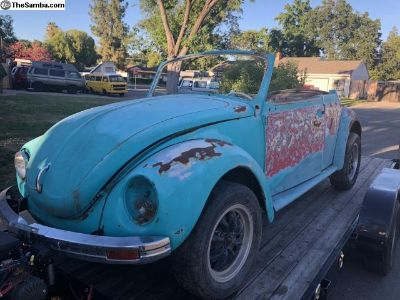 1971 bug convertible , shell , no engine , include
