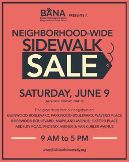 Neighborhood-Wide Sidewalk Sale - June 9 - 9AM-5PM