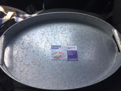 10 NEW Large Oval Galvanized Metal Serving Trays