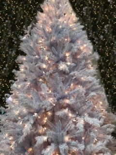 Brand New Pre-Lit White Christmas Tree (7Ft)( In A Box)