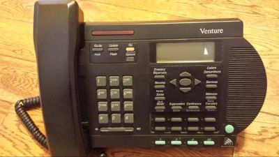Venture 3 line telephone BLK with ANS Machine