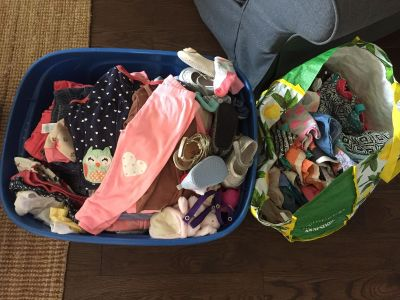 Large selection of girls clothes ranging from 3-6 months up to and including 12 months