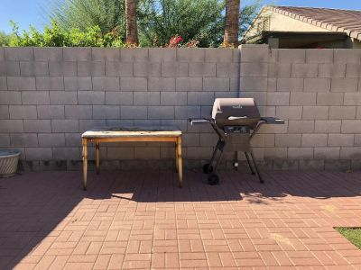 Free grill and table