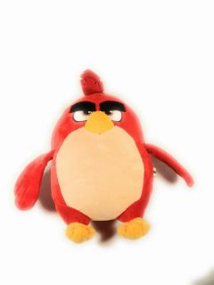 Red angry bird stuffed toy