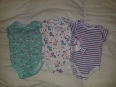 0 to 3 month girls onesies