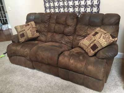 DUAL RECLINING SOFA AND LOVE SEAT