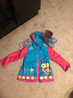 Raincoat with boots