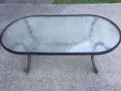 Patio table Coffee table size.