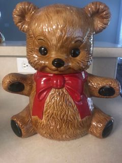 Teddy bear cookie jar..
