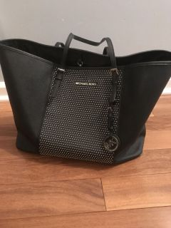 Michael Kors Large Black Leather Purse with studs