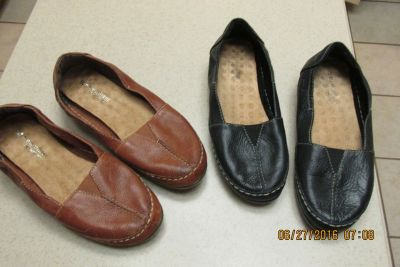 """2 Pairs New """"Naturalizer Comfort"""" Women's Loafer-Style Shoes - Size 8W - REDUCED!"""