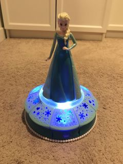 Elsa music and light up statue