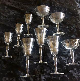 Vintage stemware - 9 pieces
