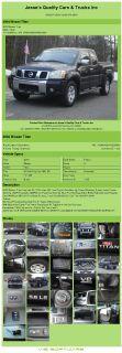 $7,992, 2004 Nissan Titan King Cab Xe 171k Miles 4x4 Tow Pkg Air Conditioning; Power Windows; Power Locks; P