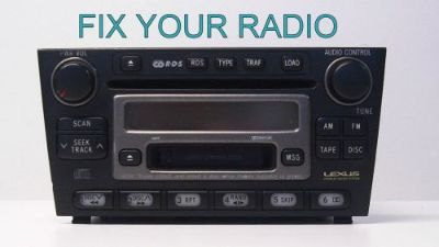 Sell LEXUS CD 6 Disc Radio IS300 LS430 LX470 ES300 ES330 REPAIR motorcycle in Brentwood, California, United States, for US $149.00