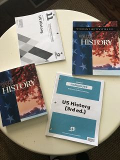 BJU US History - student books and handouts