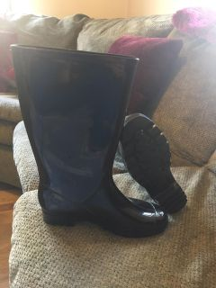 Brand new black mud boots size 9