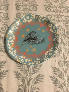 Small Collectible Hummingbird Plate 4 1/2