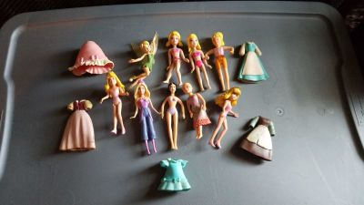 Princess and barbie mini doll lot