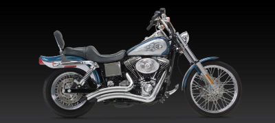 Find Vance & Hines Big Radius Chrome Exhaust 1991-2005 Harley Davidson Dyna motorcycle in Ashton, Illinois, US, for US $634.46