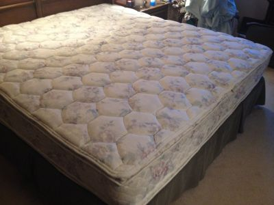 King size Verlo mattress with box spring.