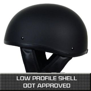 Purchase XS S M L XL ~ MATTE BLACK Skid Lid Cap Motorcycle Chopper Bobber DOT Half Helmet motorcycle in La Verne, California, US, for US $10.55