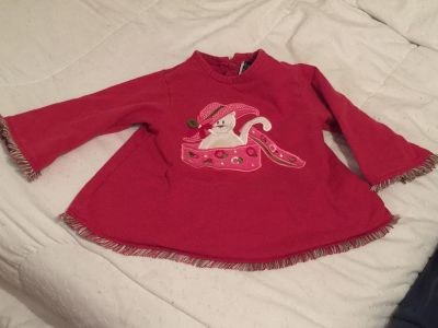 Cat sweater or top 18-24 months $7