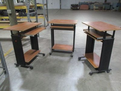 (3) Laminate Mobile Workstations w/ Slide Out RTR# 8014668-01