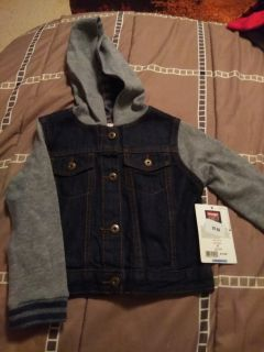 Brand New 2t light Jacket Denim with hood