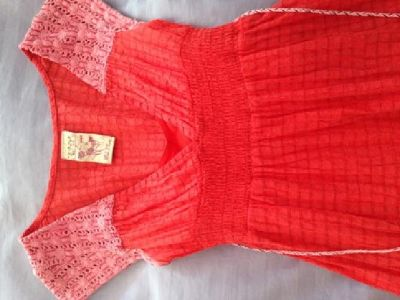 $40 Gently used pretty Free People dress: Size 2 in Pink/Red