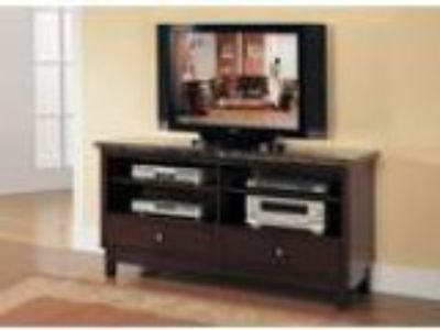 Britney black marble top TV stand entertainment console with d