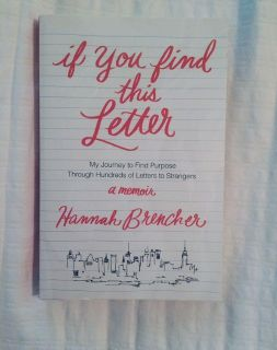 If You Find This Letter Paperback Book $4