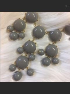 Boutique Grey/Gray & Gold Bubble Necklace