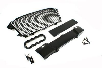 Find 2012 2013 2014 2015 AUDi A4 BLACK & CHROME FRAME RS4 TYPE MESH SPORT GRILLE B8.5 motorcycle in Watertown, Massachusetts, United States, for US $189.00