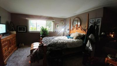 Solid Wood queen bed and dresser